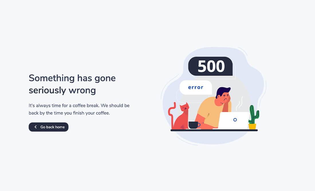 500 error preview